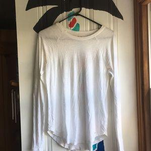 Hollister long sleeve white t-shirt